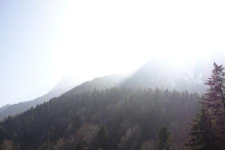 neuschwanstein: Mountain landscape at Schloss Schwanstein in Germany