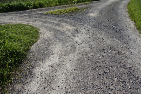 turn away: Dirt road and a junction