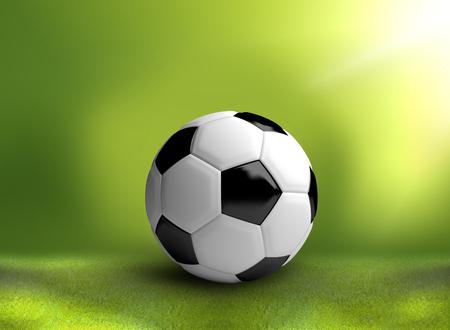 3d ball: football soccer ball 3d render background