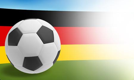 3d ball: 3d render soccer ball flag of germany Stock Photo