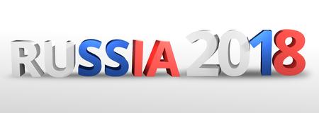 russian  russia: russia russian 2018 realistic 3D render Stock Photo