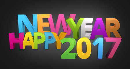 sylvester: Happy New Year 2017 3D Render