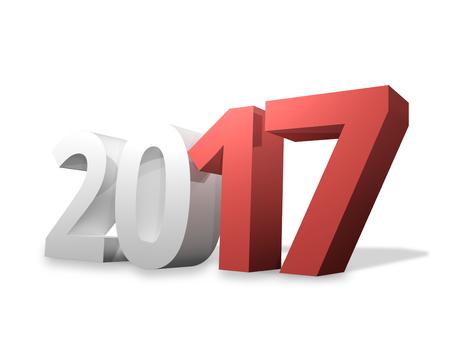 year 2017 3D Render Design Standard-Bild