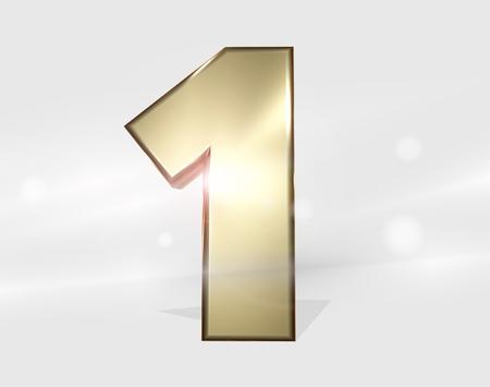 1: Number 1 golden 3D render success winner design