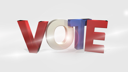 voters: Vote 3D Render isolated voting design Stock Photo