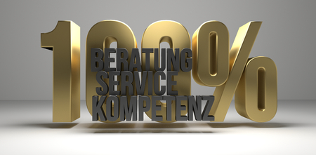 german language for Consulting Service Competence 3d render