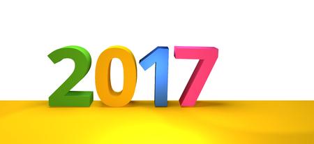 render: 2017 new year 3d render