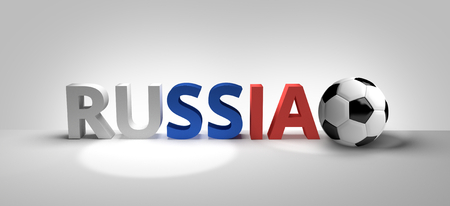render: russia football 3d render
