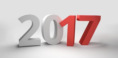 3d render: 2017 year 3d render Stock Photo