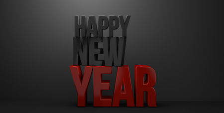 sylvester: happy new year 3d render new year sylvester Stock Photo