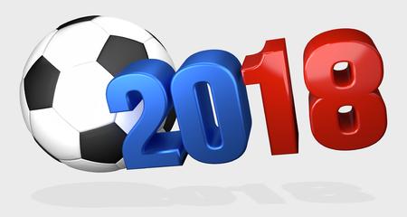 3d ball: 2018 russia ball 3d render