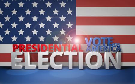 presidential: presidential election vote for america 3D render