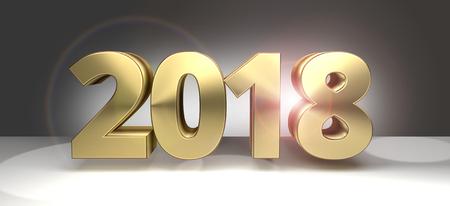 sylvester: 2018 golden sylvester bold 2018 3D render