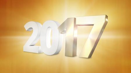 golden 2017 graphic gold 2017 3d render