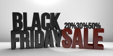 render: Black Friday Sale 3D Render