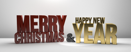 sylvester: Merry Christmas and happy new year Sylvester 3d render new year Stock Photo