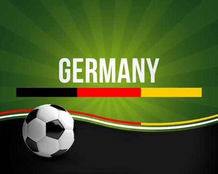 3d ball: germany football ball 3d render german