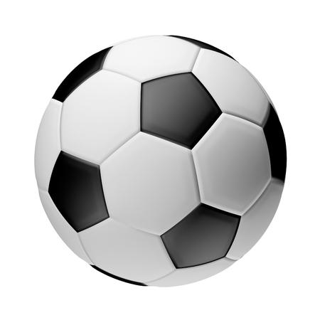 3d ball: football ball 3d render isolated ball Stock Photo