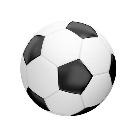 3d render: football ball 3d render isolated ball Stock Photo