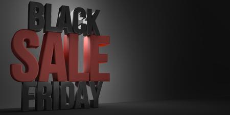 3d render: black friday sale 3d render