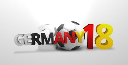 render: 2018 germany ball 3d render