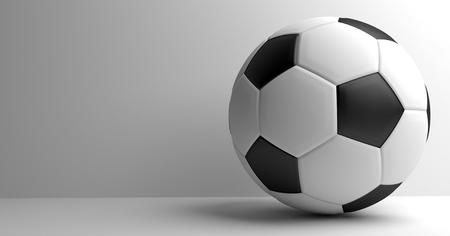 3d ball: soccer football. Ball 3D render. Football background.