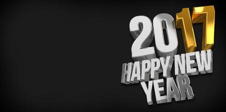 sylvester: 2017 happy new year. 2017 sylvester 3d render