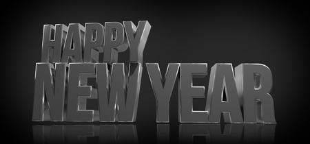 sylvester: happy new year 3d render Stock Photo