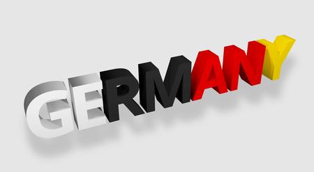 render: germany bold font 3d render