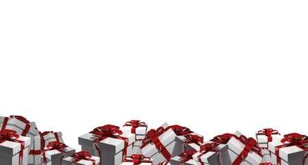 render: Christmas gifts 3d render Stock Photo