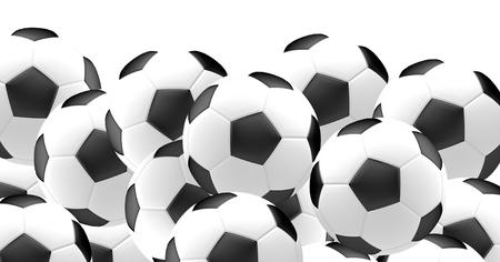 3d ball: football ball. soccer football ball 3d render Stock Photo