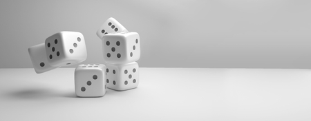 maybe: dices. dice 3d render cubes Stock Photo