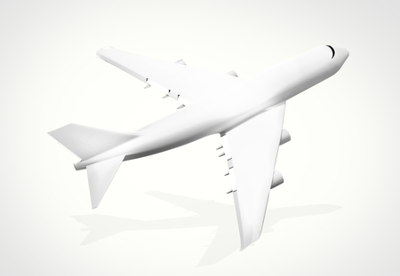 3d render: plane background. 3d render airplane aircraft