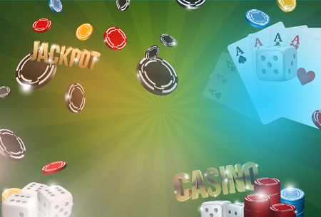jackpot: Casino background. 3d render poker jackpot casino