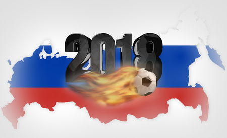 russia background soccer. russian design 3d render Stock Photo