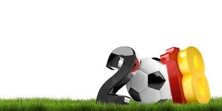 3d render: germany 2018 soccer football ball 3d render