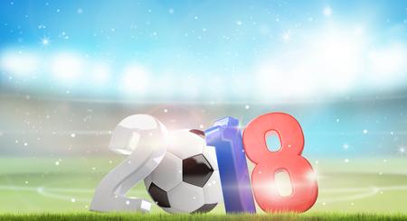 3d render: 2018 Russia football soccer 3d render