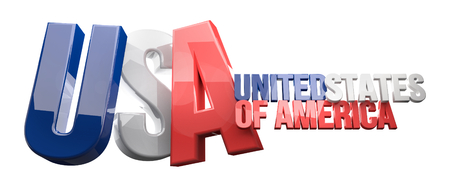 3d render: USA United States of America 3D Render