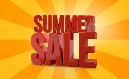 3d render: summer sale 3d render Stock Photo