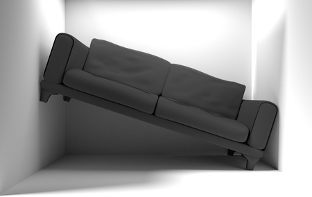 too small small living room 3d render