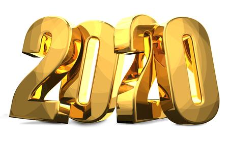 2020 golden 3D render