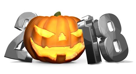 2018 silver Halloween isolated symbol Reklamní fotografie