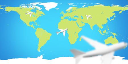 planes world map.