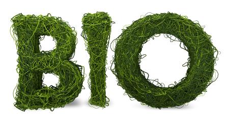 BIO 3d render green isolated bio symbol