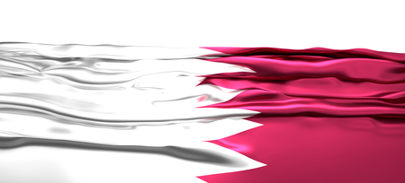 Flag of Qatar 3d rendering