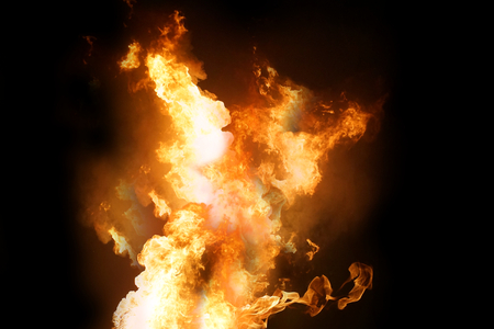 fire flames 3d rendering Stock Photo