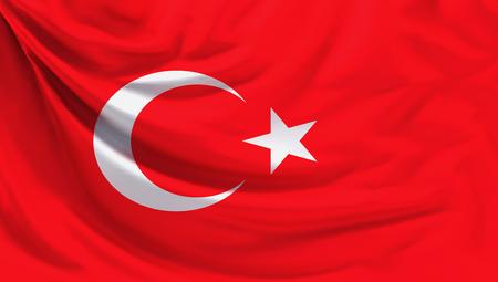 drapeau de la Turquie fond de rendu 3d