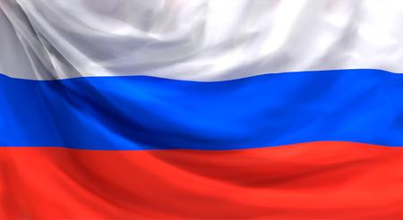Flagge von Russland 3D-Rendering Hintergrund
