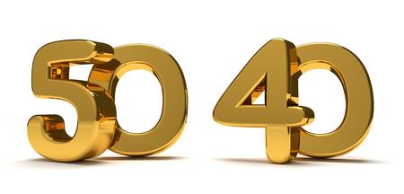 50 40 golden 3d render