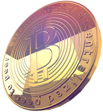 Bitcoin 3d rendering Stok Fotoğraf